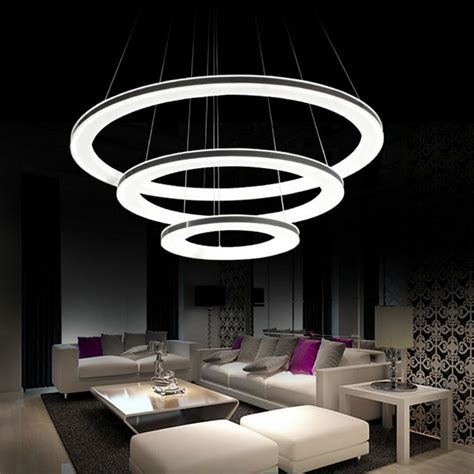 Led Chandelier Lights by Modern Galaxy Acrylic Chandelier Rings Pendant Led Light