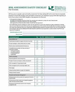 10 risk assessment checklist templates sample templates With event risk management template