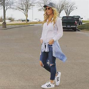 Dad Hat Outfit Adidas Originals Adidas Superstar Outfit | The Sue Style File | Pinterest ...