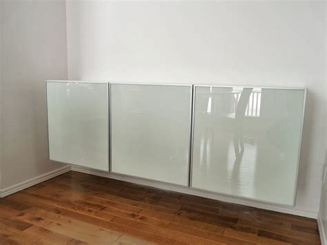 how to turn three ikea besta cabinets into a floating credenza credenza living rooms and