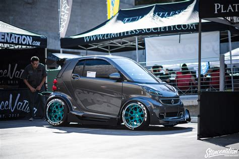 stanced smart car stanced smart car dont see that every day more pics to
