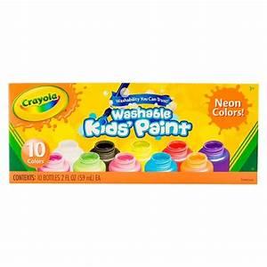 Crayola Kids Paint Washable 10ct 2oz Neon Colors Tar