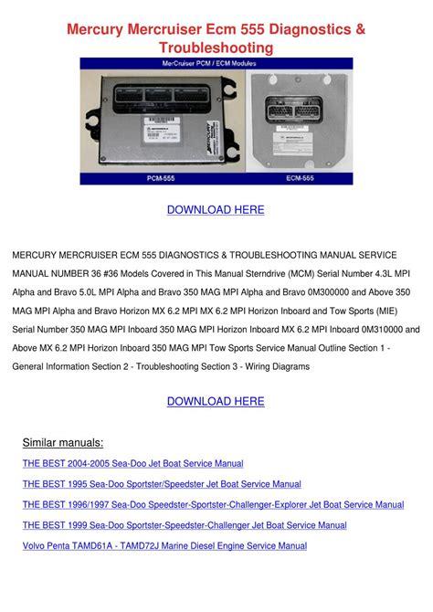 mercury mercruiser ecm  diagnostics troubl  vallie