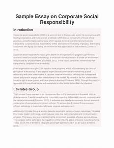 sample essay on corporate social responsibility With corporate social responsibility policy template