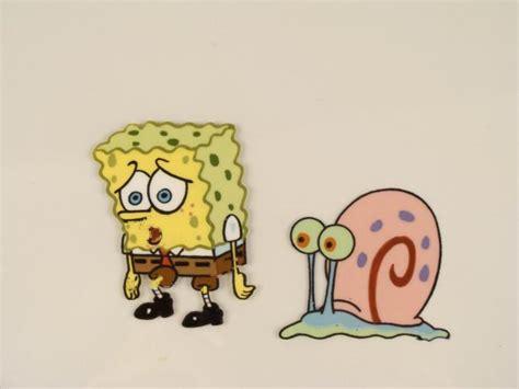 Sad Eyes Spongebob Original Gary Cel Animation Art