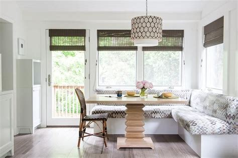 chic dining room features  built   shaped dining