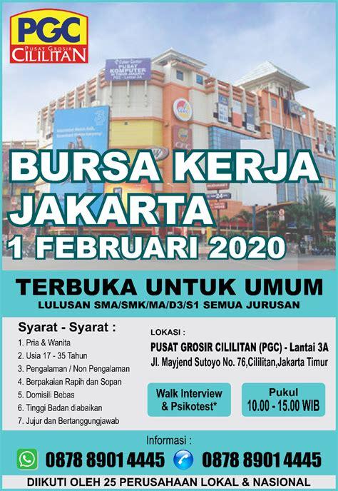 Semua lowongan direct employer outsourcing. BURSA KERJA JAKARTA - Februari 2020 - Jadwal Event, Info Pameran, Acara & Promo Terbaru
