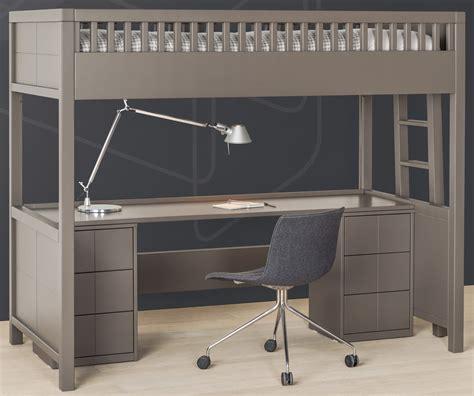 lit à étage avec bureau lit mezzanine quarré avec bureau rabattable