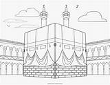 Coloring Pages Mosque Kabah Religious Colouring Islamic Ramadan Al Islam Pillars sketch template