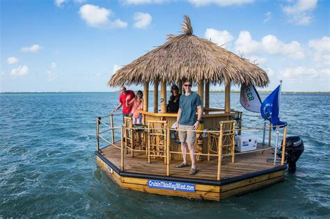 Tiki Bar Boat by Cruising Around Key West In A Floating Tiki Boat Earth