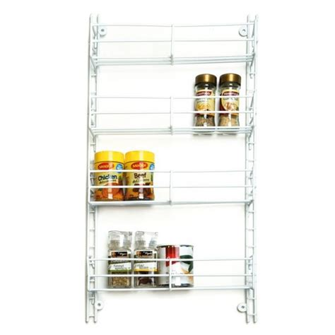 Spice Racks Australia by L T Williams 4 Tier Adjustable White Spice Rack At