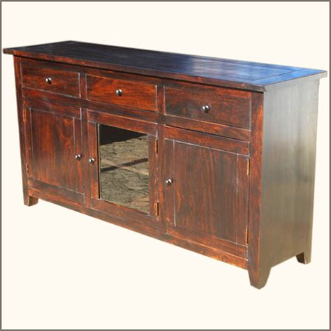 Farmhouse Sideboards And Buffets by Rustic Glass Door Buffet 3 Drawer Storage Sideboard