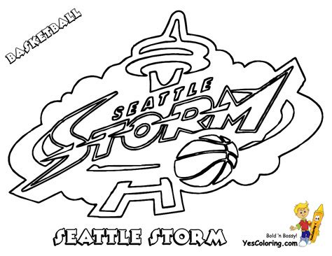 Powerhouse Girls Basketball Coloring Wnba Basketball