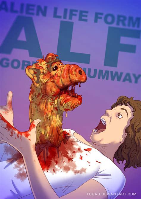 wall   futurama gang  alf remember alf