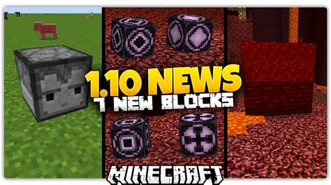Minecraft 110 News  7 New Blocks (observer Block, Nether