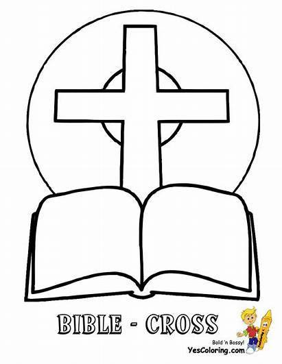 Bible Cross Coloring Printable Faith Template Pages