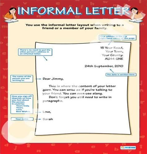informal letter writing ideas  pinterest