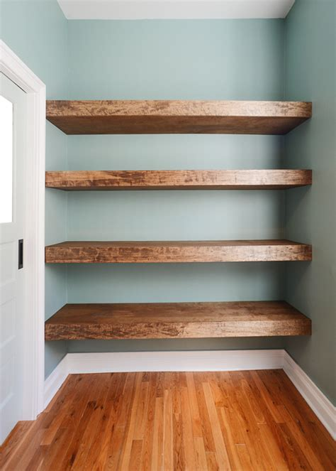 Diy Floating Wood Shelves!  Yellow Brick Home