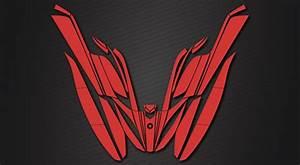 Kawasaki Jetski Stickers Med Metal Effekter Og Neon Farver