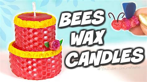 beeswax candles diy candle making kit tested youtube