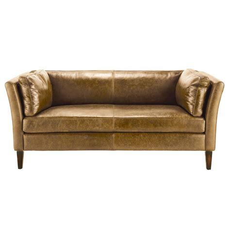 vintage sectional sofa sof 225 vintage de 3 plazas de cuero camel prescott maisons 3256