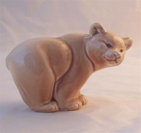 poole pottery bears light brown
