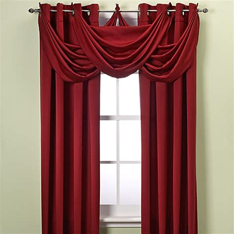Insola Insulated Drapery by Insola 174 Odyssey Insulating Waterfall Window Valance Bed