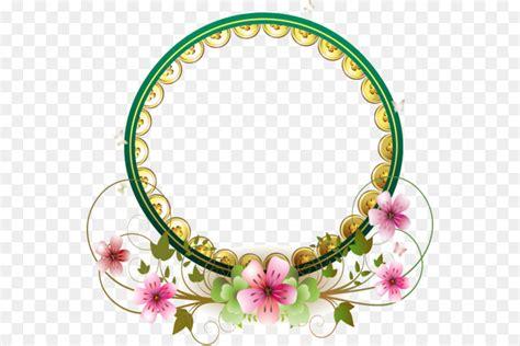 wedding ring flower wedding cake circle border png
