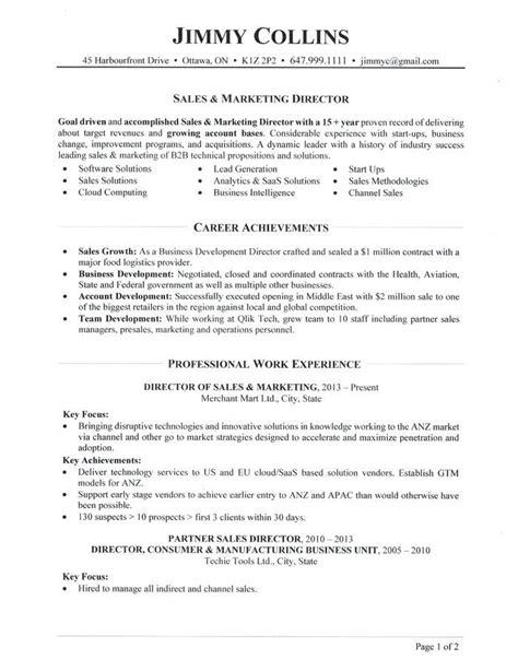 Sales Resume by Sales Director Resume