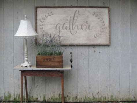 Price and stock could change after publish date, and we may make money from these links. large gather sign by ourhousetoyours on Etsy (With images) | Dining room walls, Dining room ...
