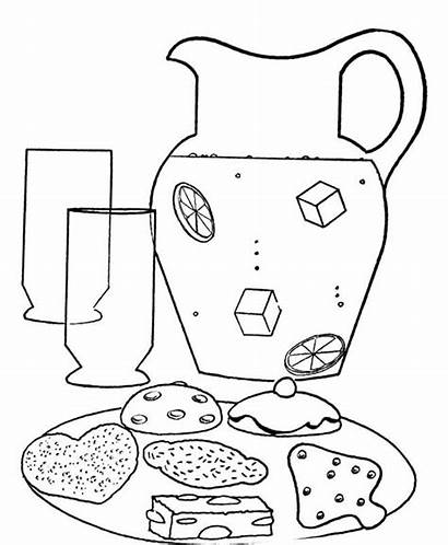 Lemonade Coloring Pages Stand Drawing Cup Colouring