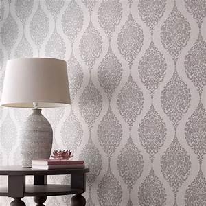 Graham & Brown Grey Luna Wallpaper