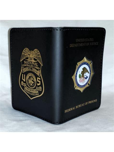 bop credential case  leosa badge imprinted  mi