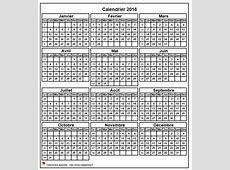 Calendrier 2016 format portrait