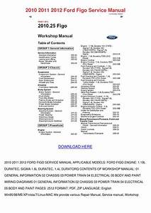 2010 2011 2012 Ford Figo Service Manual By Julianehobbs7