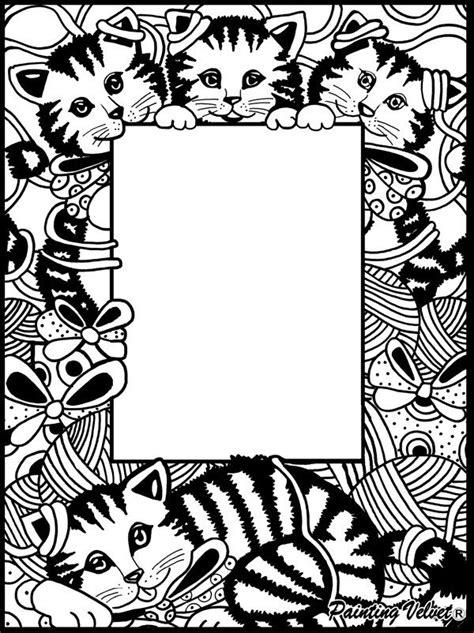 cornice da colorare  velluto  pennarelli inclusi gattini