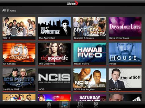 global video ipad app  global tv shows ipad
