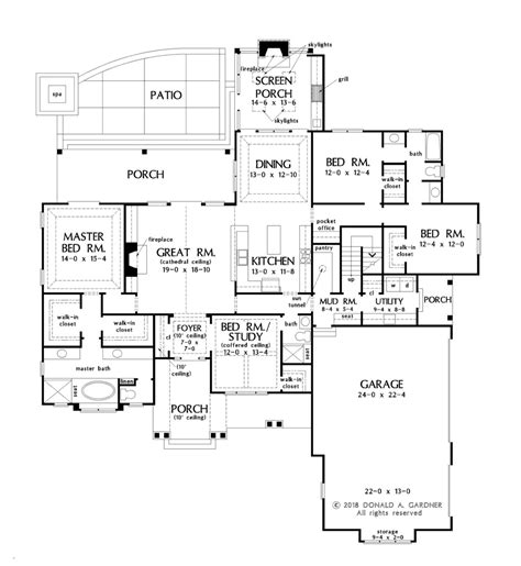Farmhouse Style House Plan 4 Beds 3 Baths 2494 Sq/Ft
