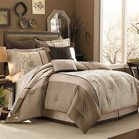manor hill 174 lark brown 8 piece complete comforter set