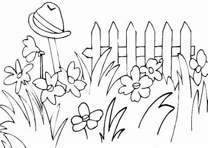 Coloring Spring Garden Pages Kidprintables Return Main