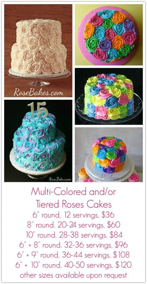 cake pricing ideas  pinterest cake servings