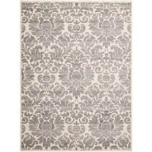 safavieh rugs costco safavieh porcello grey ivory 8 ft x 11 ft 2 in area rug