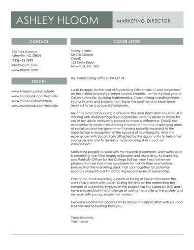 slated  job cover letter template  microsoft