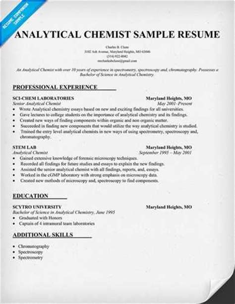 Chemistry Research Experience Resume by Performed Chemistry Research In The Area Of Abc