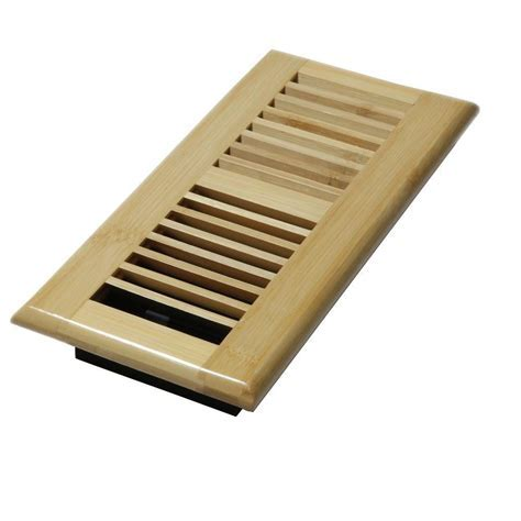 Decor Grates 4 in. x 10 in. Wood Natural Bamboo Louvered