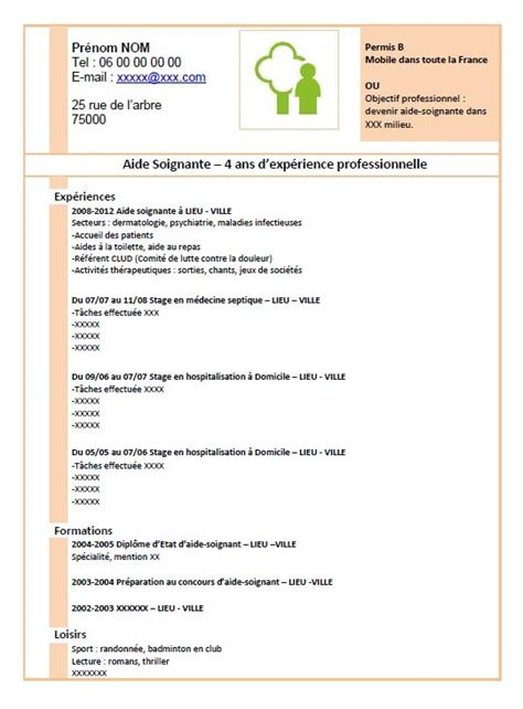 Cv En Ligne Gratuit Télécharger by Resume Format Exemple De Cv Gratuit Pour Aide Soignante