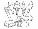 Ice Cream Coloring Printable Coloringpagebase Creams Cones Sheets sketch template