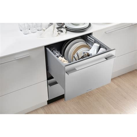 two dishwashers one fisher paykel dishdrawer dd24dctx6v2 semi integrated