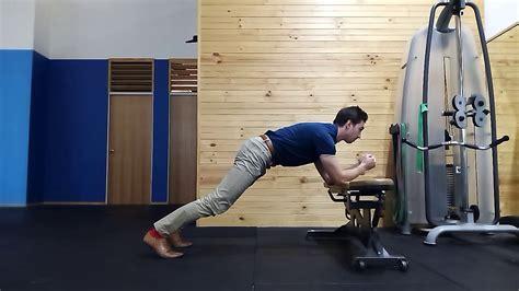 Incline Plank Pelvic Tilts - YouTube