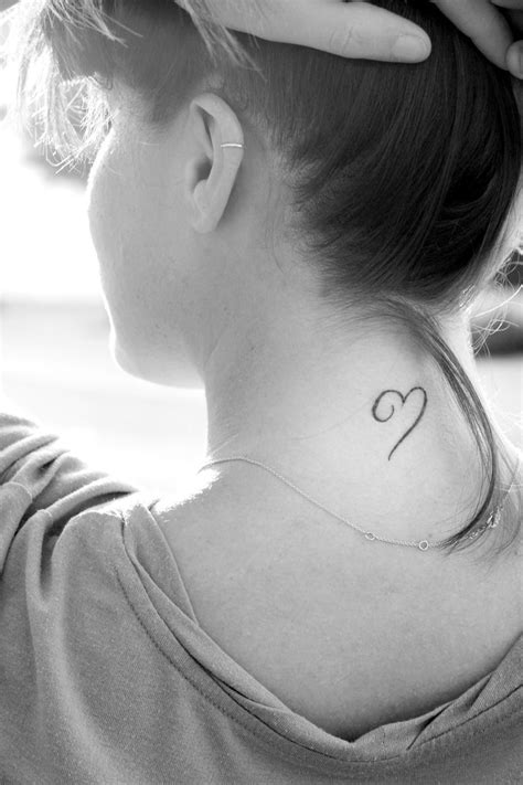 Black small heart tattoo -   TattooMagz › Tattoo Designs